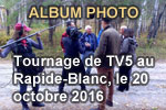 Album photo du tournage de TV5 au Rapide-Blanc, le 20 octobre 2016